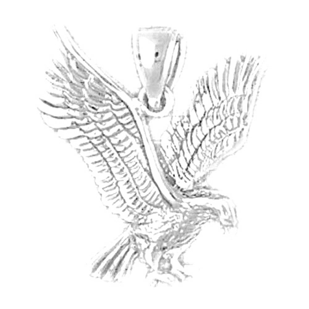 24 mm Jewels Obsession Eagle Pendant Sterling Silver 925 Eagle Pendant