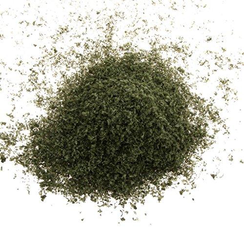 SM SunniMix 20g Model Grass Turf Leaf Powder, DIY Artificial Sand Static Scenery Adhesive Material, Miniature Landscape Diorama Building Supplies (Greyish-Green)
