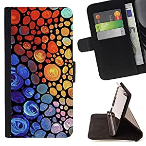 For Samsung ALPHA G850 Rainbow Vibrant Colors Purple Red Beautiful Print Wallet Leather Case Cover With Credit Card Slots And Stand Function