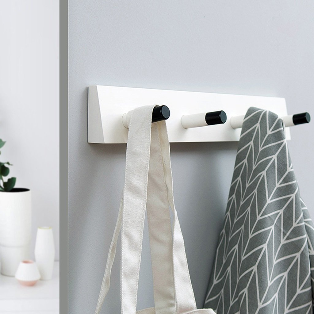 Creative Clothes Hat Hanger Living Room Bedroom Bathroom Strong Load-bearing Hook ( Color : White )
