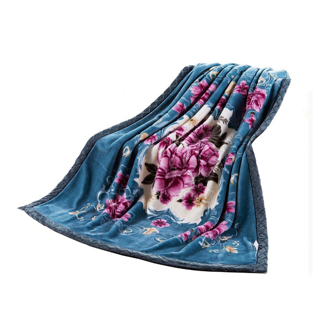 CHENGYI Polyester Gr¨¹n Grau Rosa Blumenmuster Einzel oder Doppel Einfach und Modern Heimtextilien Wolle Blanket 230 * 190cm