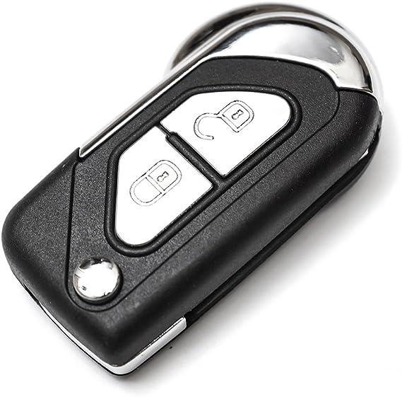 DS3 2/Boutons Cl/és pliantes portable14/chlu r/églable en T/él/écommande Voiture AF Cl/é pour Citro/ën C3
