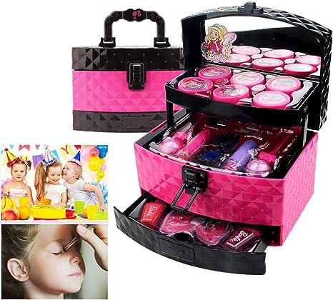 Aiwer Set de Maquillaje para niños Estuche de cosméticos 3 Capas Set de Maquillaje Profesional con Maquillaje Soluble en Agua Caja de Maquillaje Dale a tu Hijo: Amazon.es: Deportes y aire libre