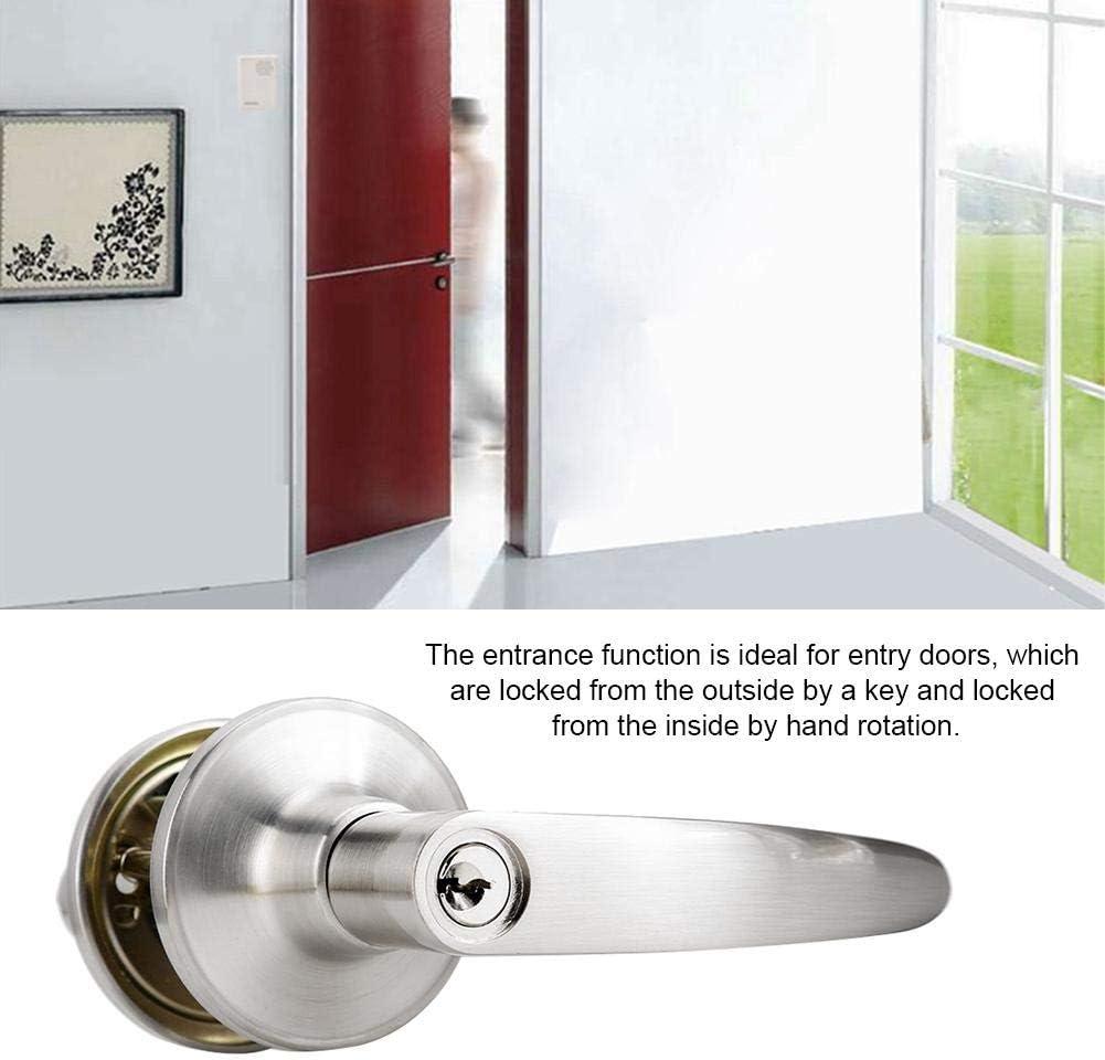 Cerradura de puerta con manija de palanca aleaci/ón de zinc antirrobo Manija de puerta abierta izquierda//derecha Cerradura de entrada con llave