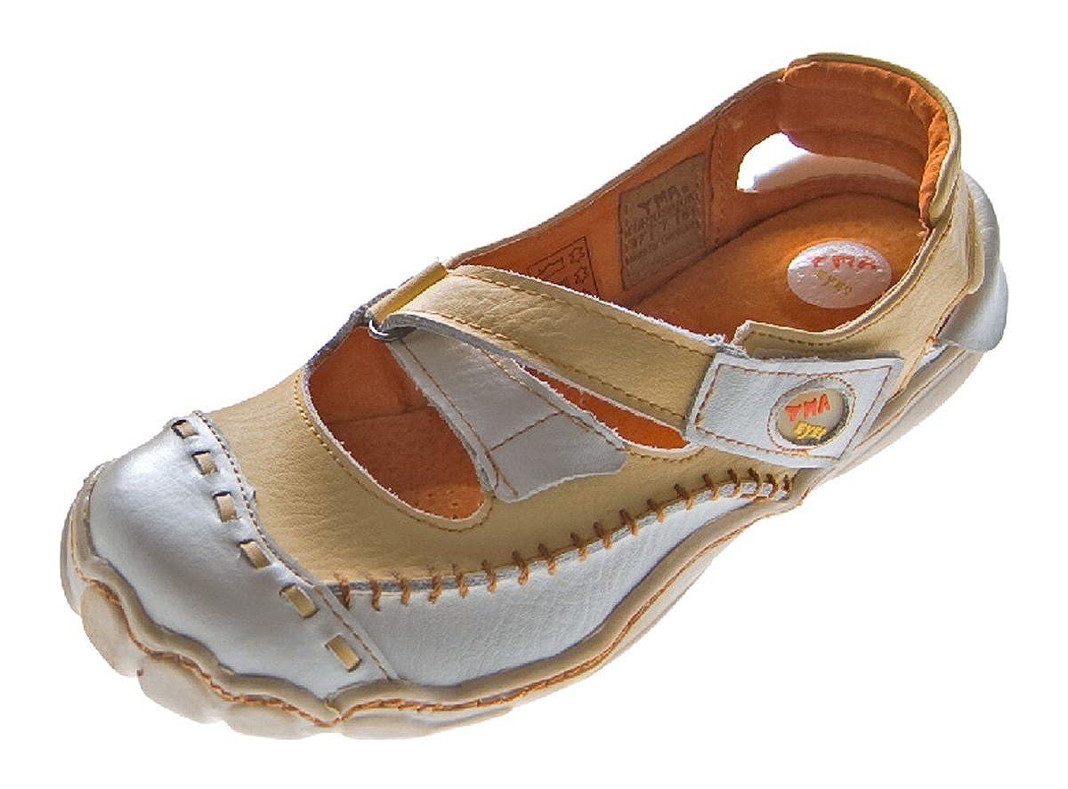 TMA 8787 Damen Pumps Halbschuhe Schuhe Elfenlook Leder weiß alle Größen 36-42