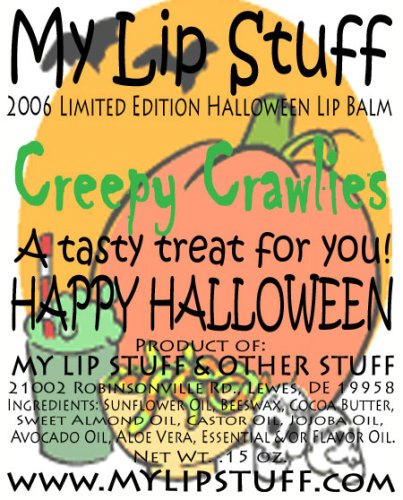 My Lip Stuff- CREEPY CRAWLIES (Carrot Cake flavor) LIMITED EDITION HALLOWEEN LIP BALM for $<!--$5.00-->