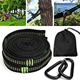 KINGSO Hammock Tree Straps 10 Ft Hammock Tree Hanging Straps With 2 Heavy Duty Carabiners 1 Carrying Bag