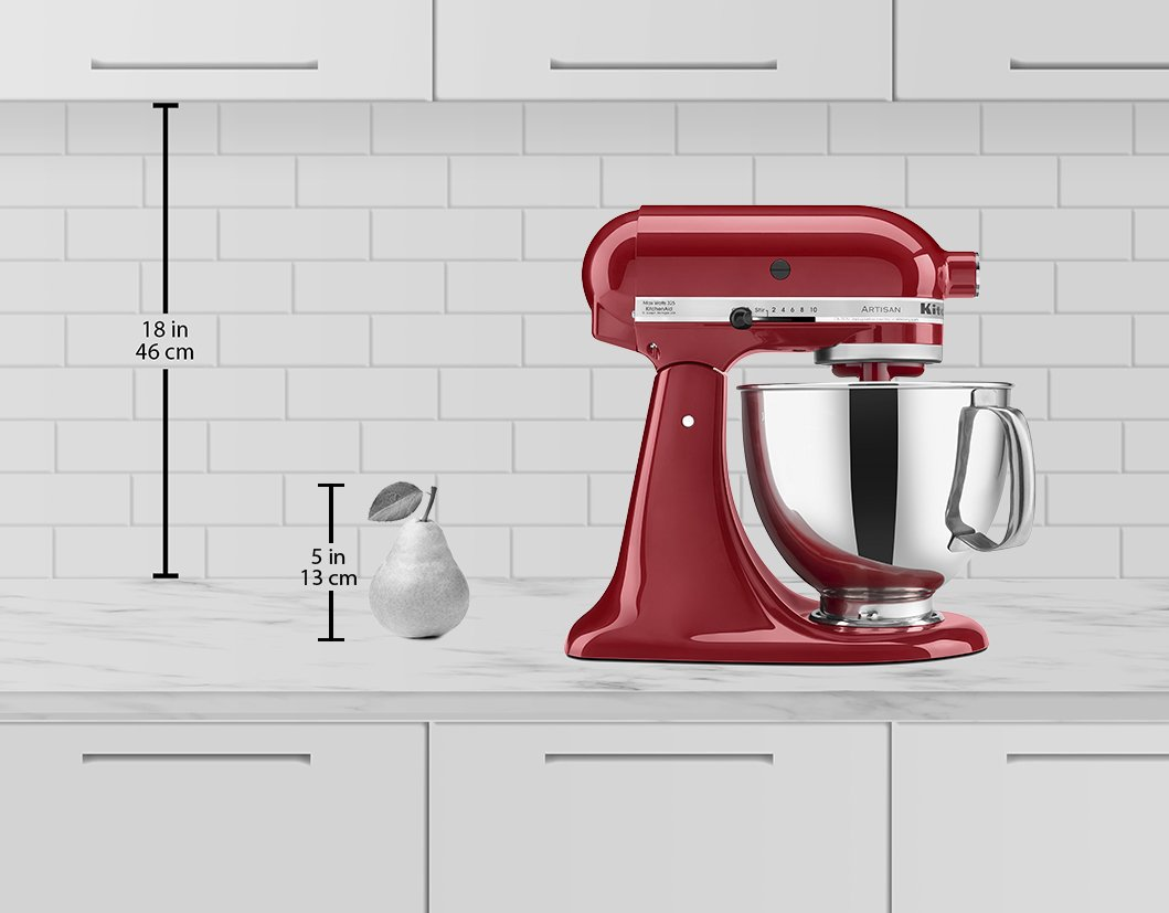 KitchenAid KSM150PSER Artisan Tilt-Head Stand Mixer with Pouring Shield, 5-Quart, Empire Red by KitchenAid (Image #2)