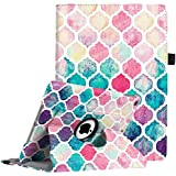 """Fintie iPad 9.7 inch 2018 2017 / iPad Air Case - 360 Degree Rotating Stand Protective Cover with Auto Sleep Wake for Apple iPad 9.7"""" (6th Gen, 5th Gen) / iPad Air 2013 Model, Moroccan Love"""