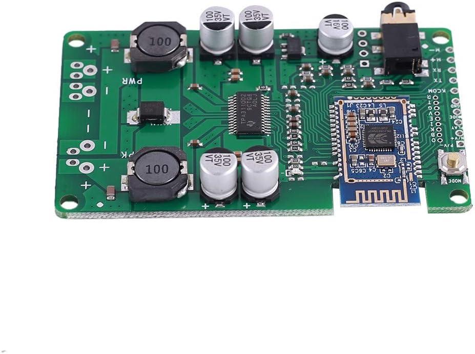 Módulo de amplificador Bluetooth mono, 12 V CC BLE5.0, placa amplificador de audio 20 W/30 W, entrada Bluetooth/MIC/AUX, compatible con cambio de nombre y contraseña