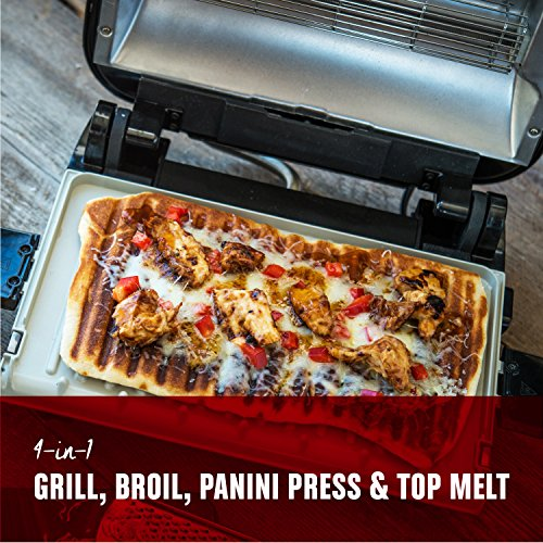 George Foreman Grill & Broil, 4-in-1 Electric Indoor Grill, Broiler, Panini Press, and Top Melter, Copper, GRBV5130CUX by George Foreman (Image #1)