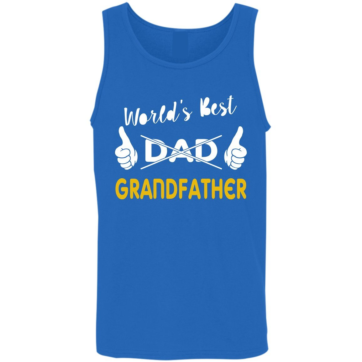23047e46920 Amazon.com  Kidoba World s Best Dad Grandfather Shirt - Papa Men Shirt - Father s  Day Tank Top  Clothing