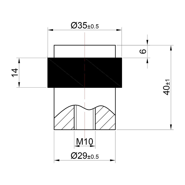 Stoppwerk Fermaporta TS012 Acciaio inossidabile Ferma porta a muro Distanziale per applicazione alla parete /Ø 3,5 cm Altezza: 4 cm