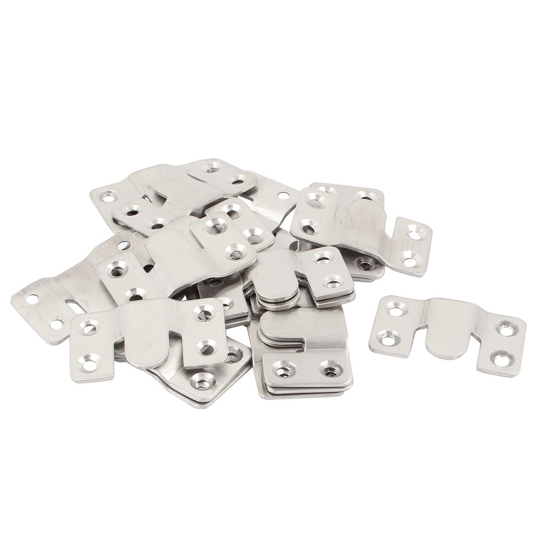 uxcell Stainless Steel Sofa Couch Sectional Furniture Connector 20pcs