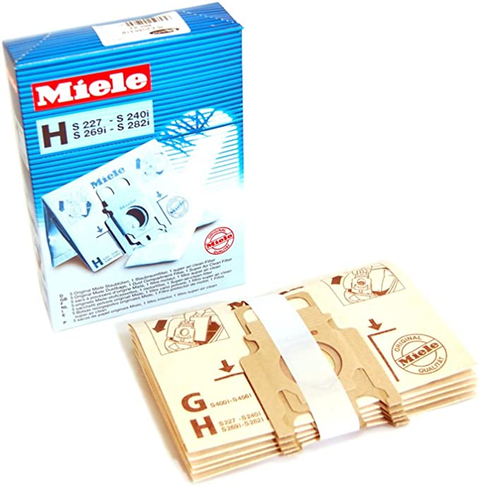 Miele Aspirador de tipo h Bolsa para el polvo, 5 unidades): Amazon ...