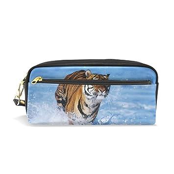 Eslifey Bengal Tiger - Estuche portátil de piel sintética ...
