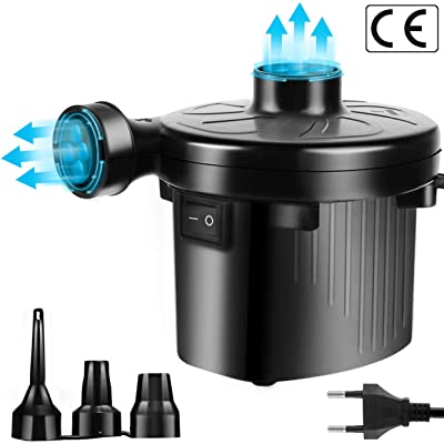 onbet Bomba eléctrica Inflable colchón de Aire para Nios AC220-240V/130W Negro, Unisex Adult, Black, 131110cm
