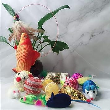 Amazon.com : Best Quality 15pcs/Set Funny pet cat Toy Combination cat Stick Set pet Toys cat Mouse Ball Playing fh : Pet Supplies