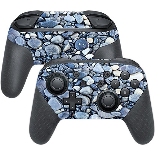 MightySkins Skin for Nintendo Switch Pro Controller - Rocks | Protective, Durable, and Unique Vinyl Decal wrap Cover | Easy to Apply, Remove, and Change Styles | Made in The USA (Pebble Beach Matte)