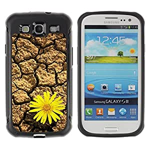 LASTONE PHONE CASE / Suave Silicona Caso Carcasa de Caucho Funda para Samsung Galaxy S3 I9300 / Design Desert Flower