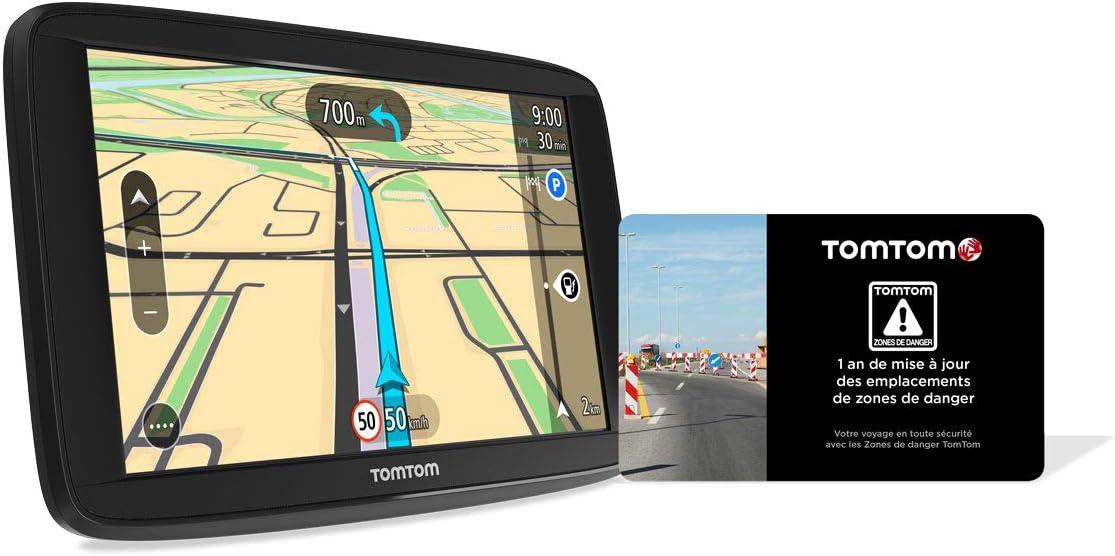 TomTom GPS para Coche Start 62, 6 Pulgadas, mapas de Europa, Prueba de alertas de Zonas de Danger, fijación revesible integrada + Scratchcard 1 año de actualización de Las Zonas de Danger: Amazon.es: Electrónica