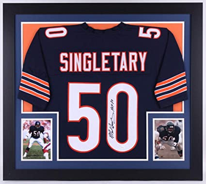 779c5307a14 Mike Singletary Autographed Signed Bears 31X35 Deluxe Framed Jersey  Inscribed Hof 98 - JSA Certified