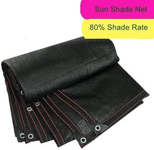 YONGMEI 80% Sombrilla Negra Sombra Red Malla Sombra Sombra Solar Tela Tela Resistente a los UV Red para la Planta de Flor de jardín para Invernadero (Tamaño : 3 * 6m): Amazon.es: Jardín