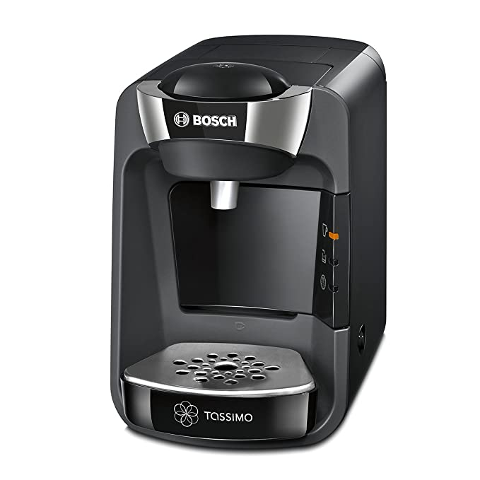 Bosch Tassimo Suny TAS3202 - Cafetera multibebidas automática de cápsulas con sistema SmartStart, color negro intenso