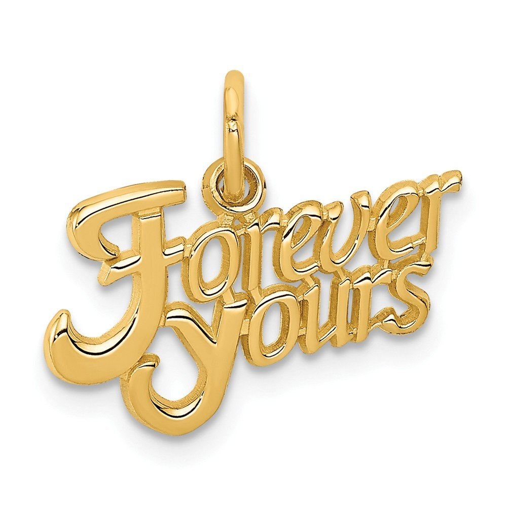 Mia Diamonds 14k Yellow Gold Forever Yours Charm 16mm x 18mm