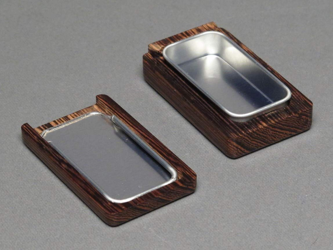 Small Wood and Steel Pill Box, Wenge