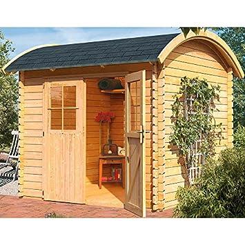 Karibu Gartenhaus Tonnendachhaus 3 Blockbohle 28mm Amazon De Garten