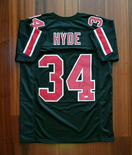 Carlos Hyde Autographed Signed Jersey Ohio State Buckeyes JSA at ...
