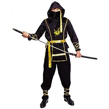 SEA HARE Disfraz de Ninja Negro para Hombre Adulto(One Size ...