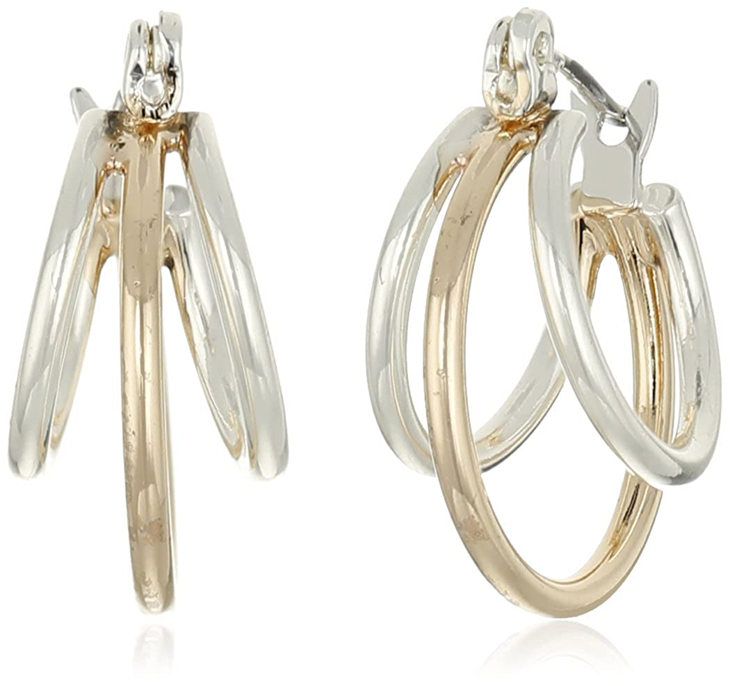 Napier Classics Two-Tone Multi-Hoop Earrings 79941428-887