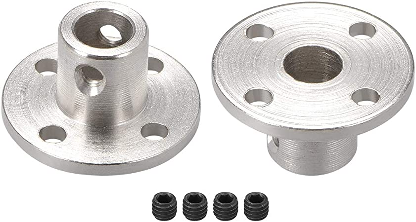 uxcell 12mm Inner Dia H13D18 Rigid Flange Coupling Motor Guide Shaft Coupler Motor Connector for DIY Parts