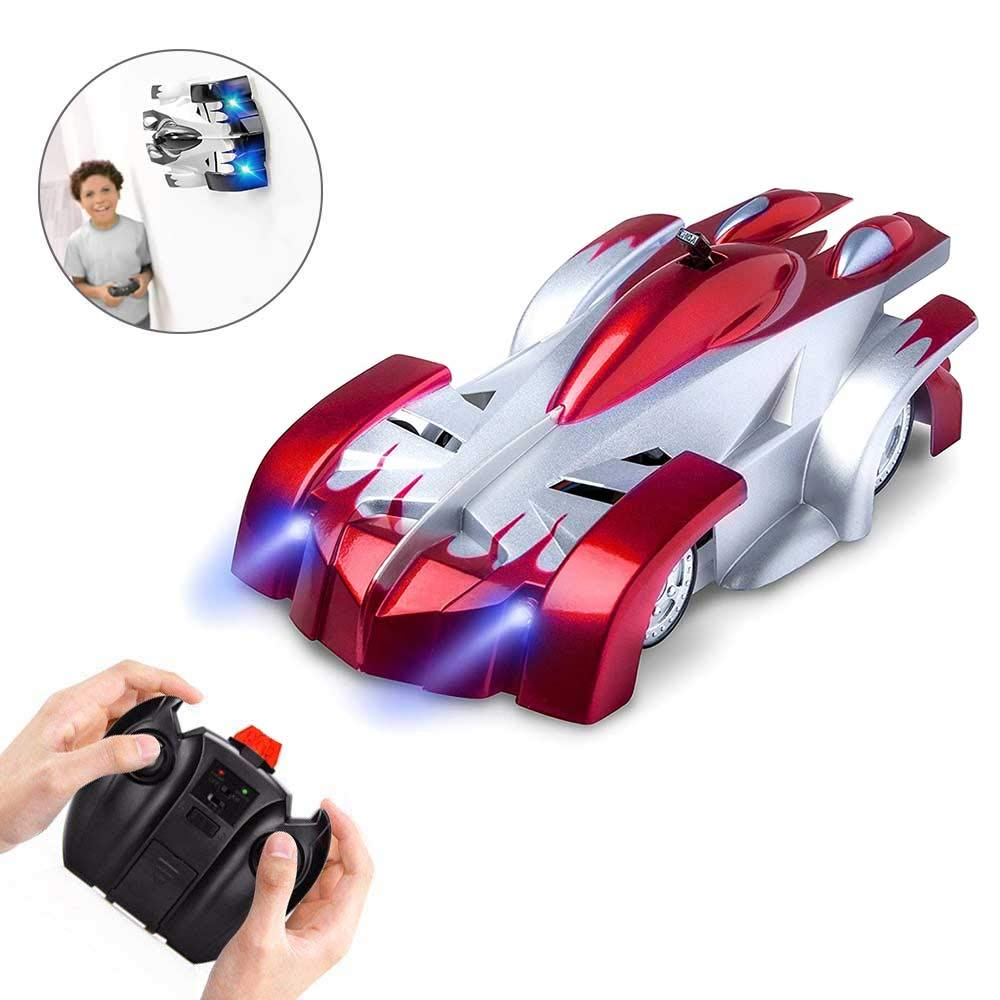 Remote Control RC Car Wall Climbing Climber Car Toy, Rechargeble Dual Mode 360Â ° Rotating Stunt High Speed Vehicle with LED Lights, Gravity D4efying RC Cars for Adults, Kids, Boys or Girls Teepao