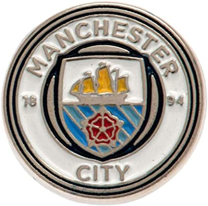 Manchester Man City Crest Pin Badge Official Football Club Fan Merchandise Gift
