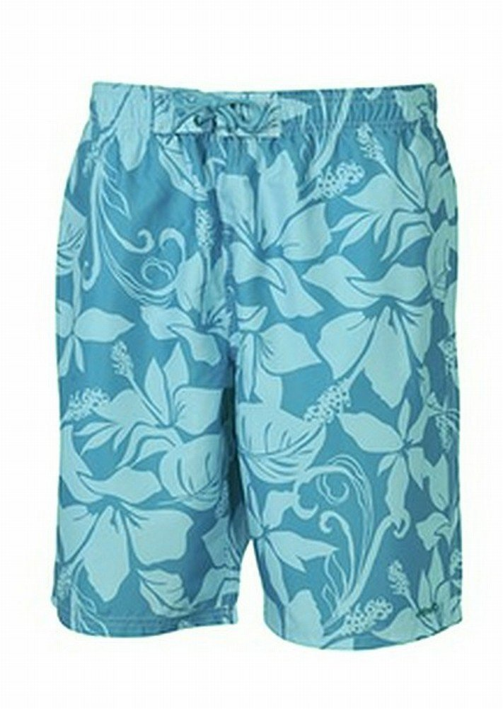 etirel Men's Swimming Trunks Beach Shorts Ewald blue floral print