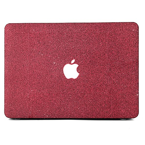 B BELK-New MacBook Pro 15(2016 Release) Casee,2 in 1 Matte Glitter Bling Texture Ultra-Slim Light Weight PC Hard Case with Keyboard Cover for MacBook Pro 15.4 with Touch Bar (A1707) - Wine Red
