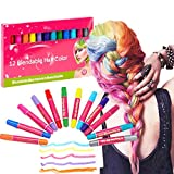 CCbeauty Hair Chalk for Girls 12 Colors Set Non-Toxic Washable Temporary Hair Color Hair Chalk Pens for Hair Dye Best Gift for Kids