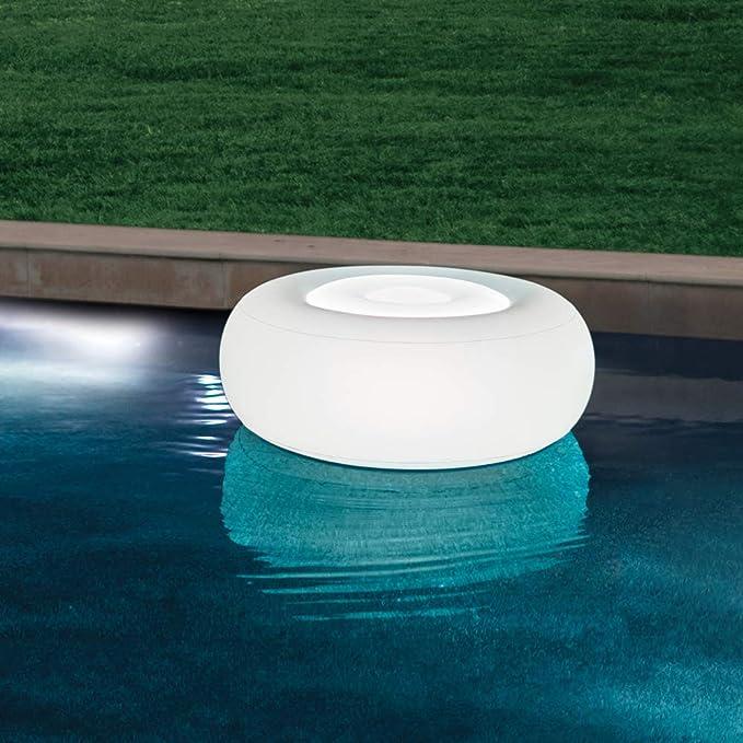Intex 68697 - Asiento Ottoman flotante con luz LED 6 colores ...