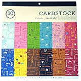 Colorbok Calendar Theme Cardstock - 30 Sheets - 12x12 Inches