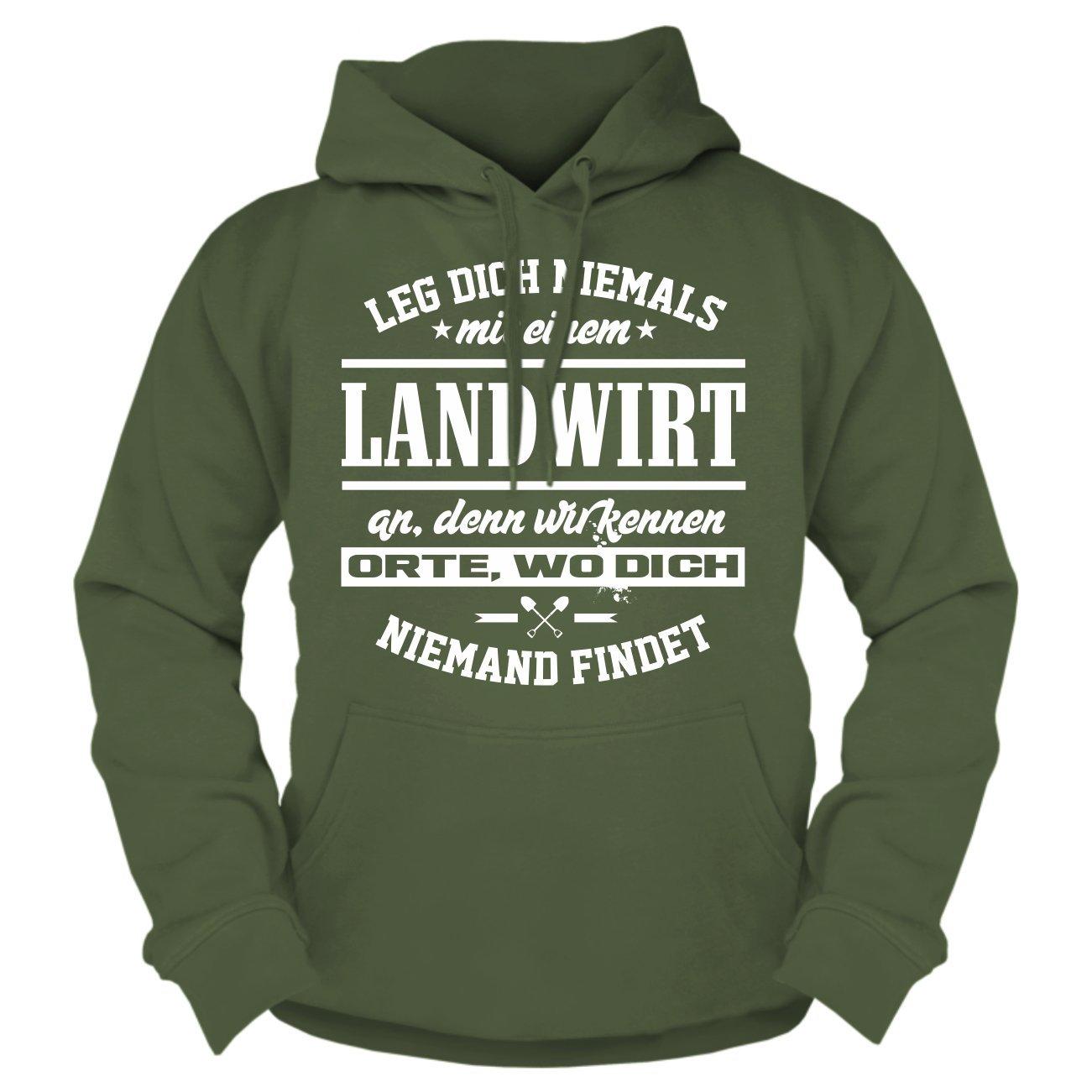 Spaß kostet Männer und Herren Kapuzenpullover Leg Dich Dich Dich Niemals mit Einem Landwirt an B01K87KV62 Sweatshirts Vollständige Palette von Spezifikationen 131b39