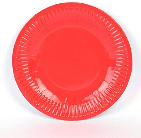 18cm  7ins Arts and Crafts Party Red 25 Paper  Plates