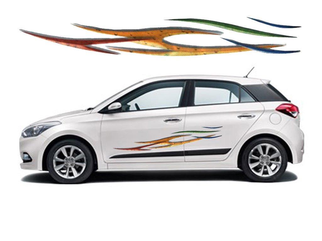 Hyundai i20 car graphics 2 side decal vinyl decal body sticker amazon in car motorbike
