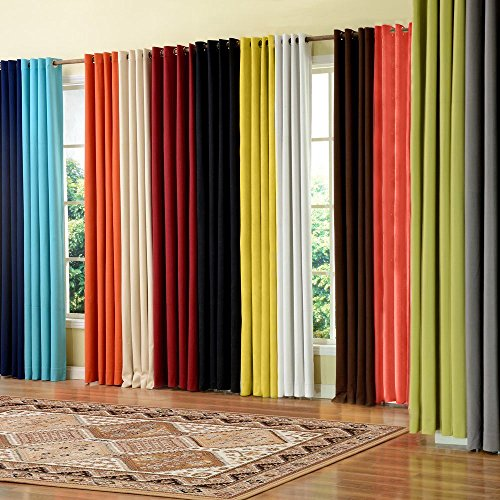 Cheap PASSENGER PIGEON Modern Luxury Velvety Curtain Soft Fabric Rainbow Color Grommet Top 100% Thermal Blackout Extra Long Black Window Treatment Curtains Panel Draperies 72″ W x 120″ L (One Panel)