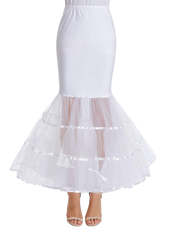 GRACE KARIN - Falda de Cola de Sirena para Mujer - Blanco - XXX ...