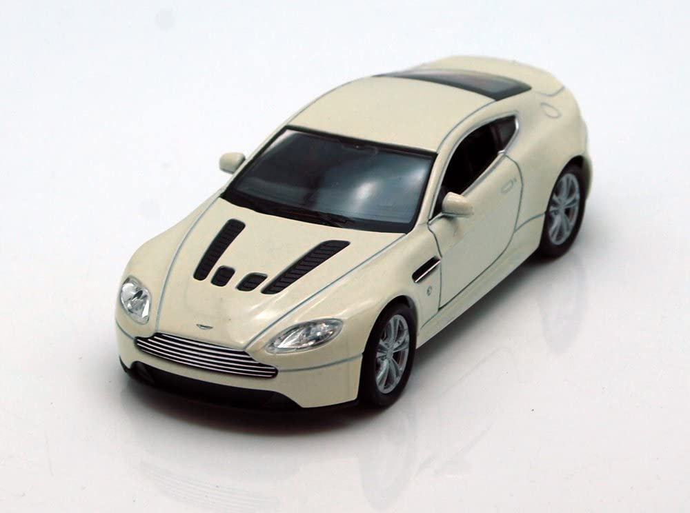 Amazon Com Aston Martin V12 Vantage White Welly 43624 4 5 Long Diecast Model Toy Car But No Box Toys Games