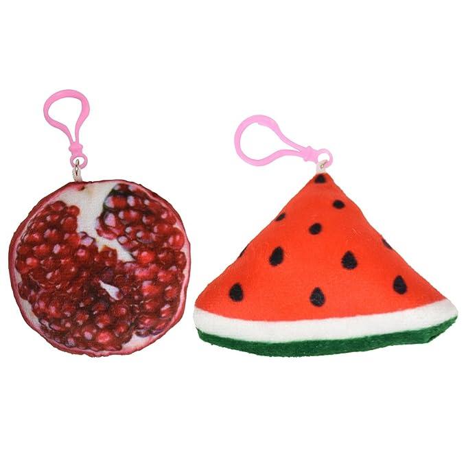 Amazon.com: Fruta mochila encanto Squishy llavero de peluche ...