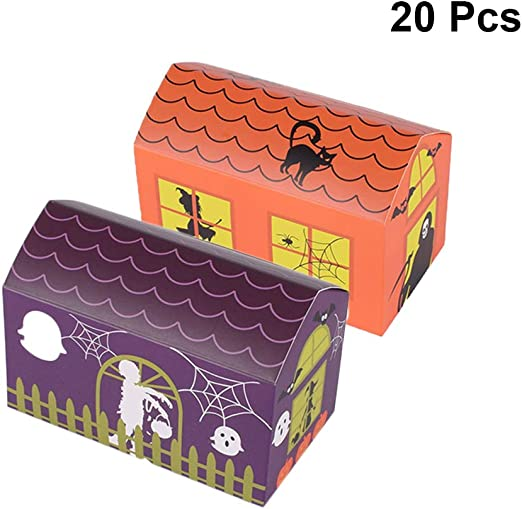 Toyvian Cajas Galletas de turrón de Papel Cajas de Dulces golosinas para Fiestas 20 Piezas (Naranja + púrpura): Amazon.es: Juguetes y juegos